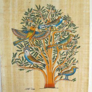 Handmade Egyptian papyrus paper hand painted NWT